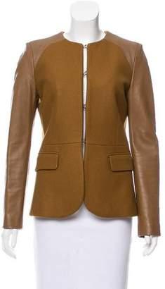 Neil Barrett Leather-Accented Virgin Wool Jacket