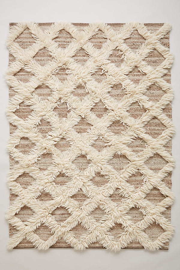 Anthropologie Anthropologie Lattice Flokati Rug