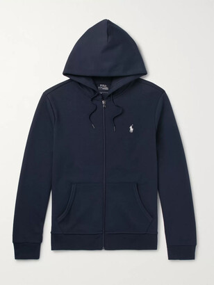 Polo Ralph Lauren Jersey Zip-Up Hoodie - Men - Blue
