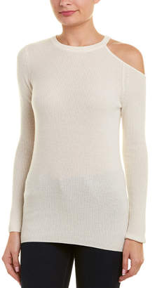 Velvet by Graham & Spencer Cold-Shoulder Cashmere Sweater