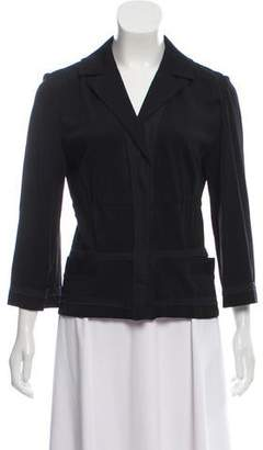 Philosophy di Alberta Ferretti Gathered Notch-Lapel Blazer