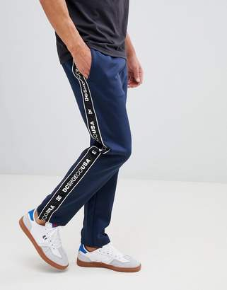 DC Joggers with Logo Taping in Navy
