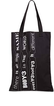 Y-3 Y 3 Slogan Tote Bag