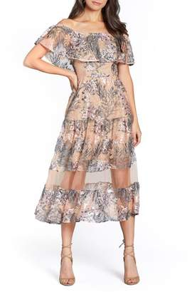 Dress the Population Gabriella Off the Shoulder Dress