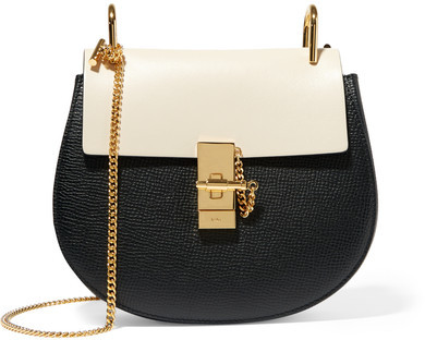 Chloé - Drew Small Textured-leather Shoulder Bag - Black