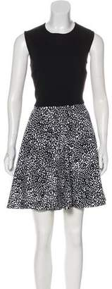 Diane von Furstenberg Sleeveless Printed Mini Dress