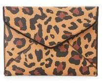 Design Lab Leopard Print Envelope Clutch