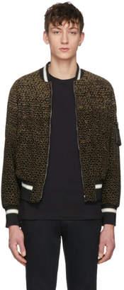Valentino Black Velvet Micro Star Bomber Jacket