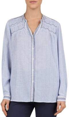 Gerard Darel Emeline Mixed-Stripe Shirt