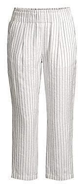 Joie Women's Araona Striped Straight-Leg Crop Pants
