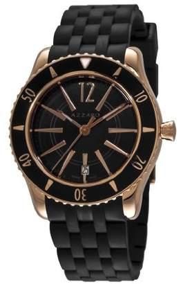 Azzaro Men's AZ2200.52BB.05B Coastline Rose PVD Black Rubber Strap Watch