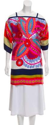 Tibi Silk Printed Tunic