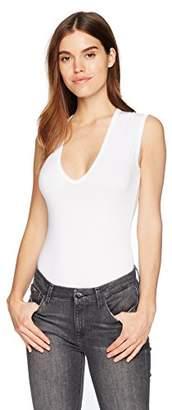 Enza Costa Women's Sleeveless U-Neck Bodysuit