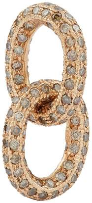 Carolina Bucci Rose Gold and Diamond Link Charm