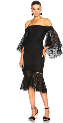 b6c1e1f73eaa at Forward By Elyse Walker · Nicholas Moroccan Tile Off Shoulder Midi Dress