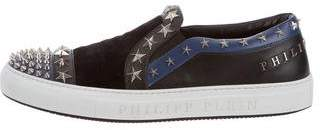 Philipp Plein Velvet Embellished Low-Top Sneakers