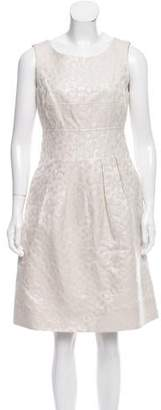 Lela Rose Brocade Knee-Length Dress