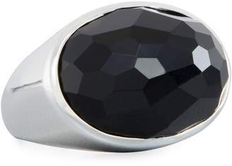 Ippolita Black Onyx Faceted Ring, Size 7