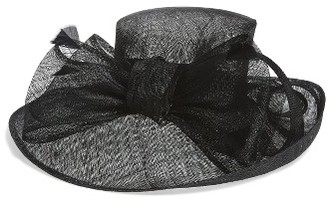 Women's Nordstrom Sinamay Bow Derby Hat - Black $69 thestylecure.com