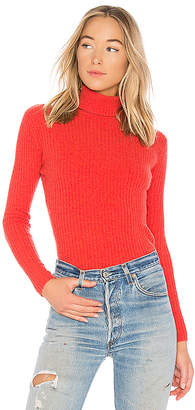 Autumn Cashmere Rib Turtleneck Sweater