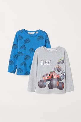 H&M 2-pack Jersey Shirts - Gray