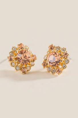 francesca's Zenya Champagne Stud Earrings - Champagne