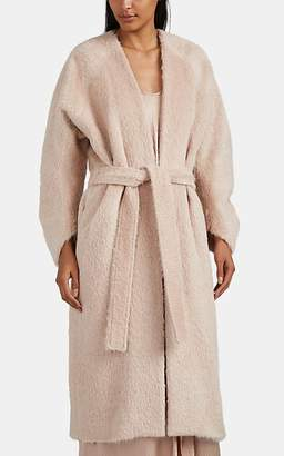 Zero Maria Cornejo Women's Fuzzy Alpaca-Virgin Wool Robe Coat - Pink