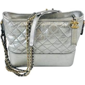 Chanel Gabrielle Silver Leather Handbags