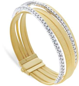 Marco Bicego Yellow Gold and Diamond Five Strand Masai Bracelet