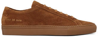 Common Projects Tan Suede Original Achilles Low Sneakers