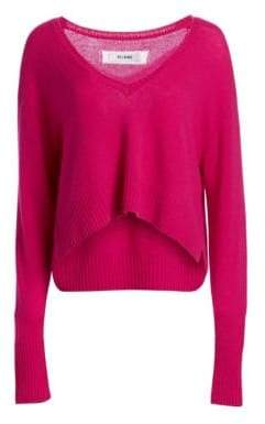 RE/DONE Cropped Wool & Cashmere V-Neck Sweater