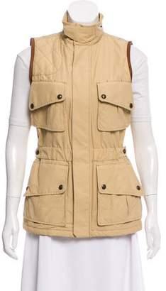 Ralph Lauren Leather-Accented Zip-Up Vest