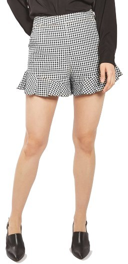 Topshop Women's Topshop Gingham Frill Shorts