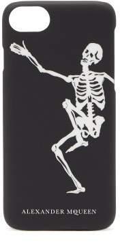 Alexander McQueen Dancing Skeleton Phone Case - Mens - Black White