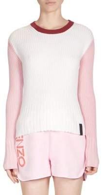 Kenzo Colorblock Crewneck Sweater