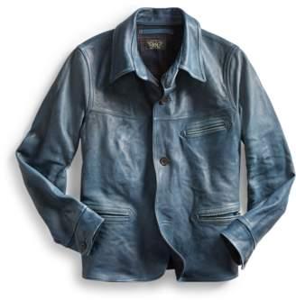 Ralph Lauren Indigo Leather Jacket