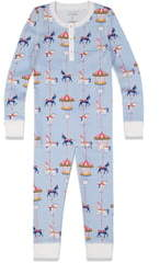 Roller Rabbit Carousel Fitted Two-Piece Pajamas