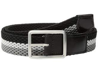 Torino Leather Co. 35mm Italian Woven Tri-Stripe Reversible Elastic