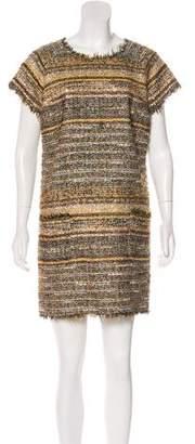 Luisa Beccaria Tweed Virgin Wool Dress