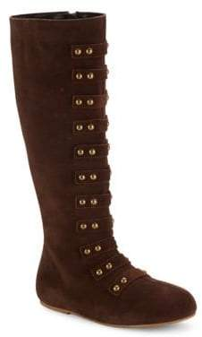 Freya Kid's Leather Knee-High Boots