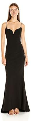 Nicole Miller Women's Techy Crepe V Bar Gown $206.38 thestylecure.com
