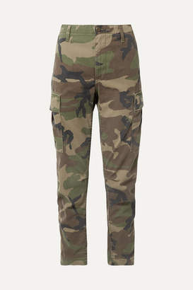 RE/DONE Camouflage-print Canvas Tapered Pants - Green