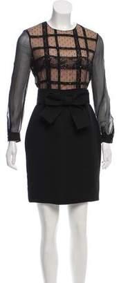 Valentino Belted Embellished Dress