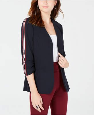 XOXO Juniors' 3/4-Sleeve Tuxedo-Stripe Jacket