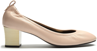 LANVIN Lightly-grained leather pumps $650 thestylecure.com