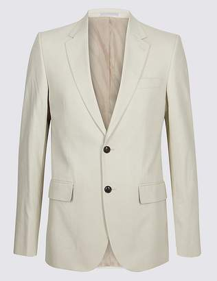 Marks and Spencer Big & Tall Linen Blend 2 Button Jacket
