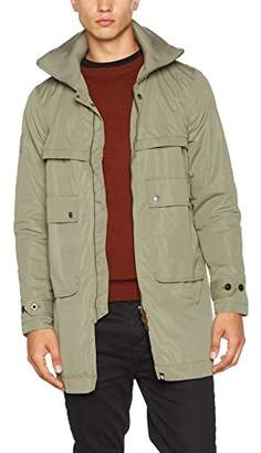 Pretty Green Men's Walton Funnel Neck Parka,Xx-Large