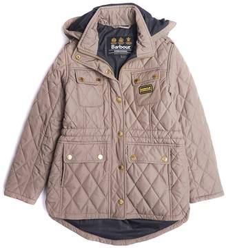 Barbour Girls International Absorber Quilted Hooded Jacket