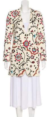 Alice + Olivia Embroidered Structured Coat