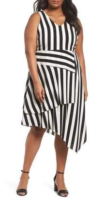 Vince Camuto Spectator Asymmetrical Hem Dress
